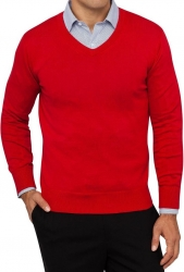 Van Heusen Van Heusen Plain Red Mens Knitwear