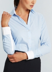 Gloweave Gloweave Striped Womens Business Shirts