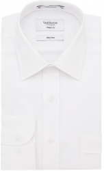 Van Heusen Van Heusen Self Stripe Herringbone White Shirt