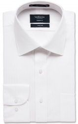 Van Heusen Van Heusen Self Stripe White Shirt