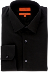 Ganton Ganton 100% Cotton Black Shirt