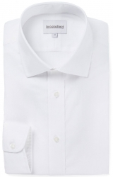 Brooksfield Brooksfield Self Stripe Dobby White Shirt