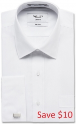 Van Heusen Van Heusen White Cotton Blend French Cuff
