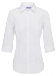 Van Heusen Van Heusen Plain 3/4 Sleeve Womens Business Shirts