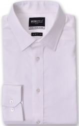 Brooksfield Brooksfield Luxe Slim Fit White Shirt