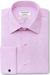 Ganton Ganton Pink Shirt City Fit French Cuffs