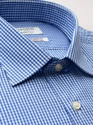 Ganton Ganton Essentials Blue Check Shirt