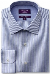 Ganton Ganton City Tailored Fit Fine Stripe Shirt