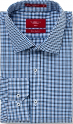 Van Heusen Van Heusen Blue Mix Check Shirt Slim Fit