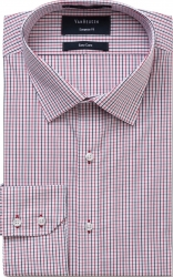 Van Heusen Van Heusen Red an Black Check Euro Fit Shirt