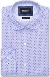 Brooksfield Brooksfield 100% Cotton Motif Design Slim Fit