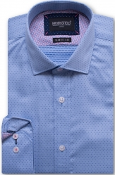 Brooksfield Brooksfield 100% Cotton Small Dot Design Slim Fit