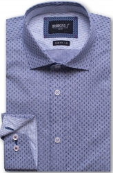 Brooksfield Brooksfield Luxe Shirt Anchor Print in Slim Fit