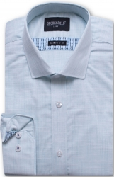 Brooksfield Brooksfield 100% Cotton Horizontal Slub Slim Fit