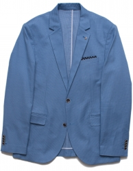 Brooksfield Brooksfield Summer Blue Cotton Mens Blazer
