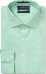 Van Heusen Van Heusen Micro Check Green Shirt European Fit