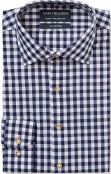 Van Heusen Van Heusen Navy Check Shirt European Fit