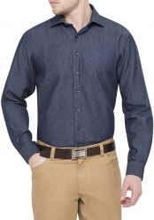 Van Heusen Van Heusen 100% Cotton Denim Shirt Euro-Tailored Fit