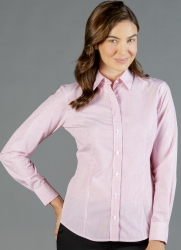Gloweave Gloweave Striped Dobby Long Sleeve Womens Business Shirt