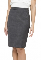 Van Heusen Charcoal Suit Skirt Modern Classic Fit