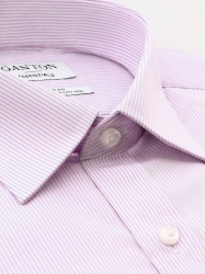 Ganton Ganton Essentials Pink Stripe Classic Fit