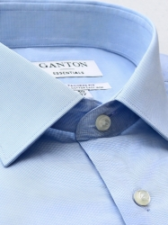 Ganton Ganton Essentials Blue Micro Check City Tailored Fit