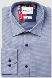 Brooksfield Brooksfield 100% Cotton Shirt Textured Weave