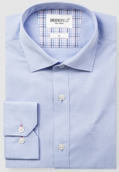 Brooksfield Brooksfield Diamond Weave Cotton Shirt