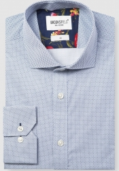 Brooksfield Brooksfield Printed Micro Square Shirt
