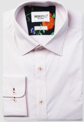 Brooksfield Brooksfield Firework Print Cotton Stretch Shirt