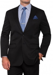 Bracks Bracks Plain Black or Navy Mens Suits