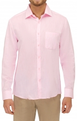 City Club City Club Linen Mix Smart Casual Shirt