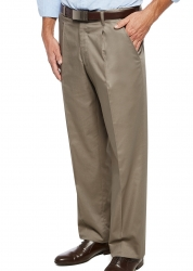 City Club City Club Pleated Cotton Blend Trouser