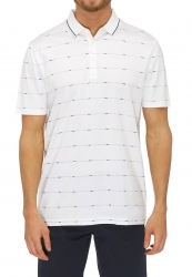 City Club City Club Polo Fine Jaquard Stripe Regular Fit