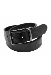 City Club Reversible Stamped Leather Belt
