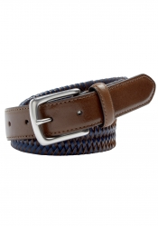 City Club City Club Plait Leather Belt Polished Buckle