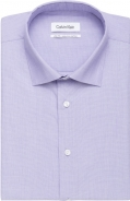 All Cotton End on End Weave Lavender and Siver Grey in Slim Fit