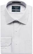 <p><strong>Promotional Price !</strong> Cotton Rich Self Stripe White Silver Black  <strong>European Fit</strong></p>