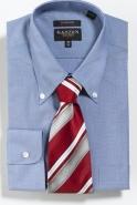 Gold Label Cotton Rich Button Down Collar White Denim Classic Fit