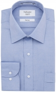 85% Cotton Rich Easy Care Pin Point Oxford Weave Blue Classic Fit