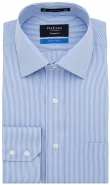Performa Cotton Rich Non Iron Fine Stripe Blue European Fit