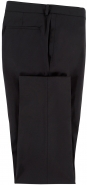 Wool Stretch Plain Weave Trouser in Black and a Slim Fit