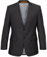 Evercool Charcoal Suit Jacket 70% Wool 30% Trevira European Fit