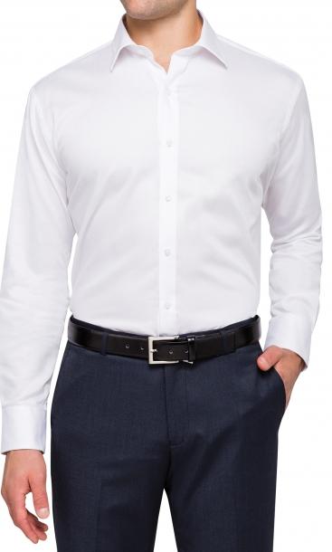 Van Heusen Classic Fit 100 Cotton Dobby Weave White Shirt